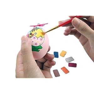 大嘴草 炫彩蛋画 手绘彩蛋diy 复活节仿真鸡蛋壳 创意