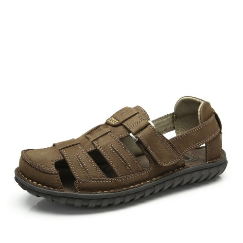 Camel 骆驼 男凉鞋 新款正品包头简约休闲鞋 夏季沙滩鞋防滑舒适透气魔术贴男凉鞋A422309002