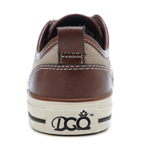 dqq 经典帆布鞋 低帮纯色
