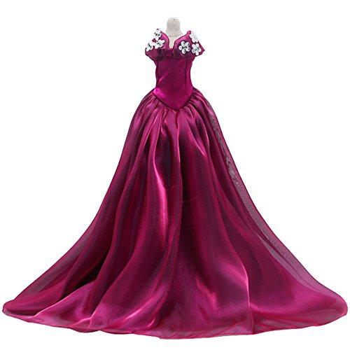 叶罗丽 精灵梦叶罗丽仙子娃娃衣服裙子礼服 改妆换妆配件 (紫色晚礼服图片