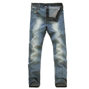 弹力吊裆小脚裤韩版紧身潮浅色磨破洞牛仔裤男士雪花