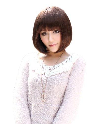 凯艾娇时尚女发 超可爱齐刘海短发图片