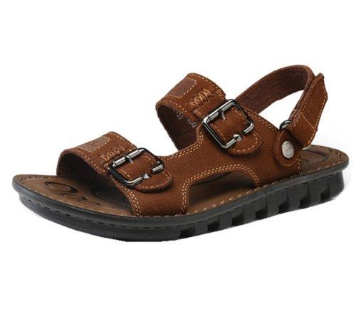 Camel 骆驼牌 时尚户外凉鞋款 经典男鞋 沙滩鞋 触感细腻 金属感强 头层牛皮 魅力款 男凉鞋