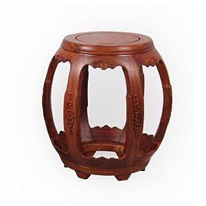特价龙上龙 仿古雕花鼓凳圆凳 非洲花梨木矮凳 红木换鞋凳 小木板凳