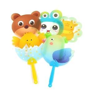 可爱动物造型儿童不折叠卡通夏天手摇塑料小