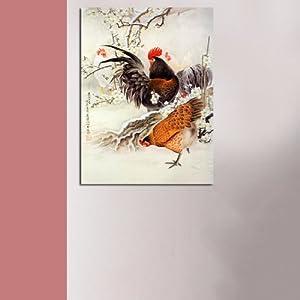 公鸡独立手绘三视图