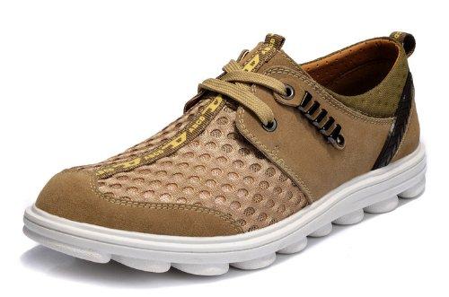 Guciheaven 夏季男士透气休闲网面运动鞋 反毛牛皮男鞋 透气网布鞋 毛毛虫底 低帮休闲鞋