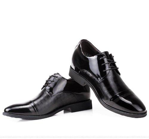 Gog 高哥 增高鞋男式 时尚系带头层牛皮内增高商务休闲鞋 高哥隐形增高鞋 手工缝制 精湛车缝线 男士增高鞋 增高6.5cm/厘米 高哥增高鞋 912102-11