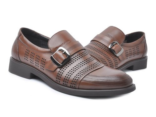 Fuguiniao 富贵鸟 俊雅睿影镂空设计透气全牛皮商务皮鞋 男 正装鞋 Q2862329棕色 brown