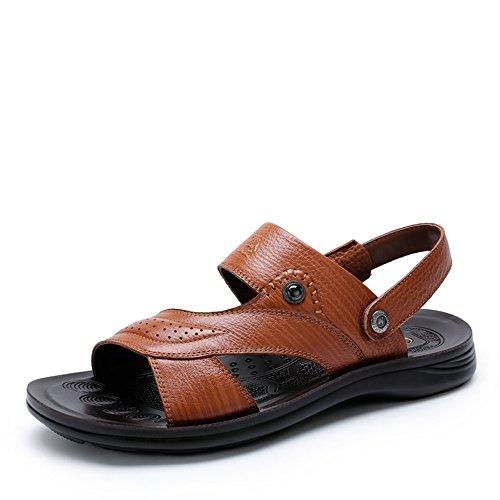 Camel 骆驼 男鞋 牛皮凉鞋日常休闲耐磨 2015夏季新款休闲透气凉鞋