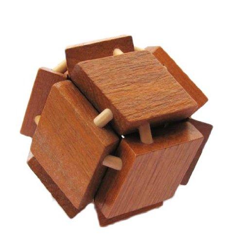 好幼礼 木制成人益智玩具 拆装解锁玩具 孔明锁鲁班木 12棱角球