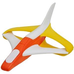 瑞奇比蒂 softoys户外玩具 eva弹射滑翔飞机 黄白色小号 74500