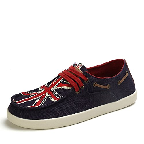 Tt&Mm 汤姆斯 男帆布鞋英国旗学生板鞋男士系带休闲鞋436101M