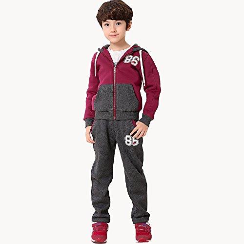 2015秋季大童装男童纯棉加绒外套装儿童男孩秋装长袖运动服两件套153