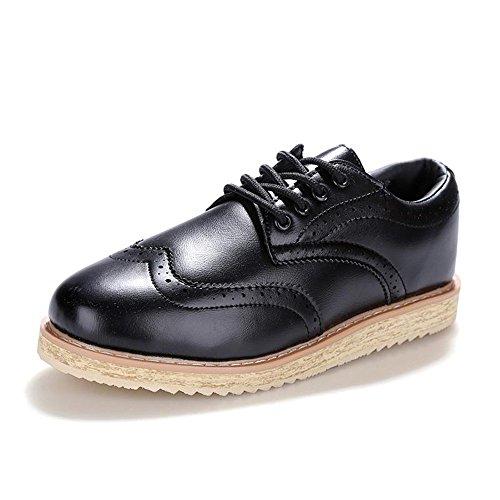 英伦时尚 男式休闲鞋复古雕花小码布洛克街头潮鞋低帮百搭个性男鞋子松糕鞋