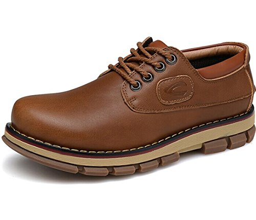 CAMEl ACTlVE 英伦系带户外复古保暖透气低帮马丁鞋皮鞋工装鞋单鞋商务休闲鞋 男鞋子