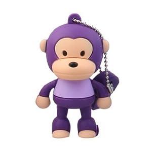 oae 卡通猴子 8gu盘可爱创意 站姿猴u盘8g优盘迷你 正品 8gb 紫色