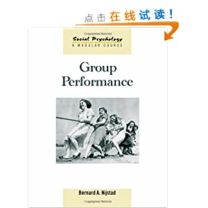 group performance social psychology a modular course