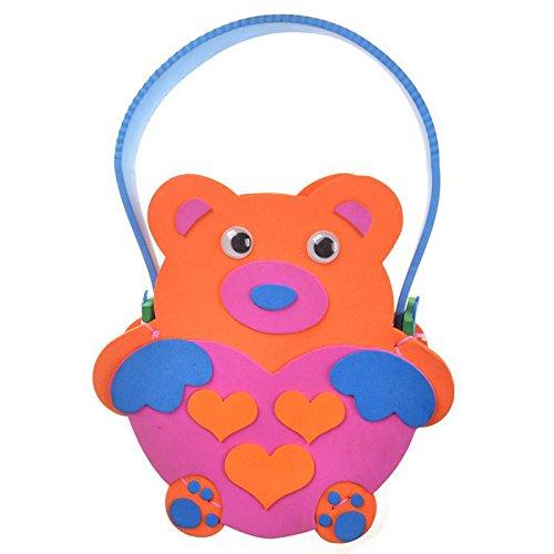 diy手工材料幼儿 k1-10包包 手工包 (动物包包-小熊)