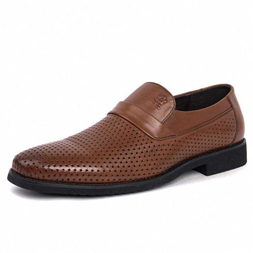 Montagut 梦特娇 男鞋2014夏款 软皮舒适透气日常商务凉鞋 牛皮洞洞皮鞋