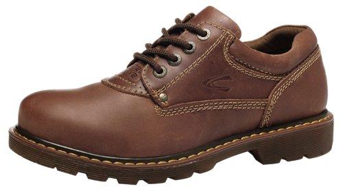 Camel 骆驼 冬季新款 休闲鞋真皮厚底船鞋 潮流英伦低帮鞋子