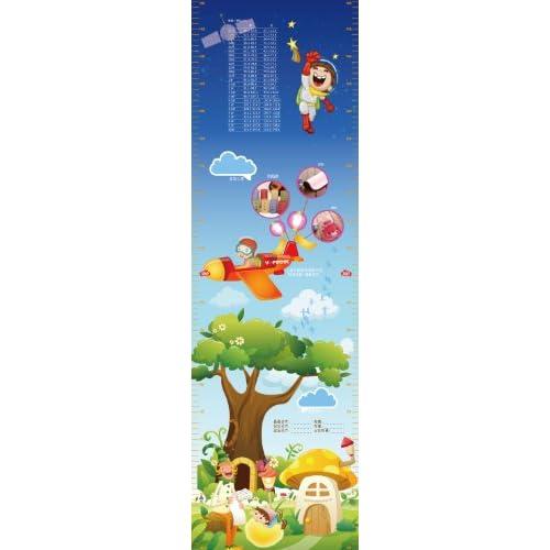 v-coool可爱卡通宝宝身高尺墙贴纸 儿童成长记录册贴纸