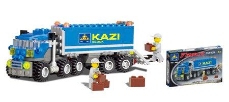 拼装积木工程系列-开智卡车乐高式插拼益智玩具