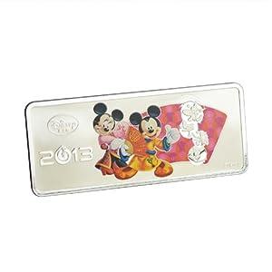中钞国鼎 999纯银米奇中国风礼品 孩子礼物 迪士尼蛇年生肖银条 30克