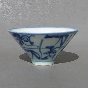 御豪 景德镇陶瓷 3.5寸刀字斗笠碗 白酒杯 青花手绘茶碗手工 釉下彩 古窑茶花 收藏怎么样,好不好