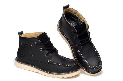 Guciheaven 英伦风时尚型男最爱 头层牛皮男鞋 高帮休闲鞋 工装靴 大头皮鞋 复古靴子 男鞋