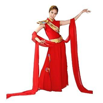 德艺坊 德艺坊女金肩民族服装 秧歌服装 汉族舞蹈表演