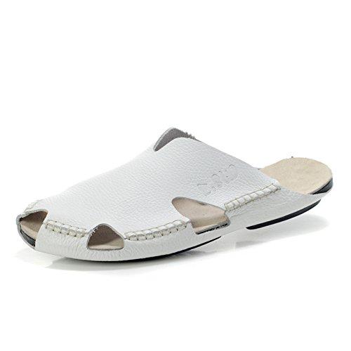 走索正品夏季新品男鞋子潮流拖鞋男士韩版包头懒人鞋真皮休闲半拖鞋ZS605
