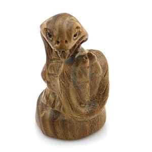 随石随玉 绿檀木雕刻 小摆件 把玩件 手把件 生肖蛇 纳福系列二 聚财