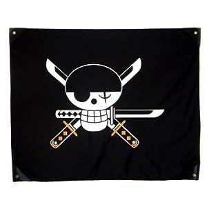 甜蜜城堡 航海王海贼王旗帜海盗旗 草帽路飞海贼旗 高品质版 大号 约