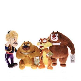 唯米 熊出没毛绒玩具 光头强熊大熊二松鼠蹦蹦 一套四