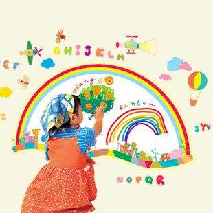 浪漫屋 〖卡通涂鸦板〗幼儿园儿童房背景白板贴纸 三代可移除墙贴 图