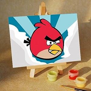 手绘数字油画diy儿童手绘画