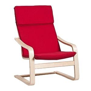 北欧实木弯曲椅曲木椅摇椅躺椅休闲椅子MLY 001 A 红色怎么样,好
