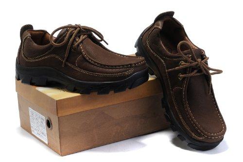Camel 正品 2013新款 大头工装鞋 年轻时尚鞋 头层皮 超酷美国战靴 户外休闲鞋 舒适鞋男鞋 A1108002 暗棕色 39