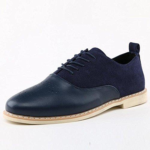 英伦雕花男士休闲皮鞋透气复古真皮尖头男鞋子 韩版潮鞋布洛克鞋