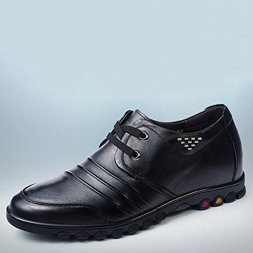 Gog 高哥 增高鞋商务休闲鞋6cm男士隐形内增高男鞋皮鞋秋季