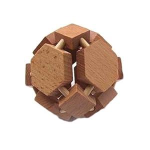 童豆儿 木制成人益智玩具 酒吧游戏 孔明锁鲁班木 拆装玩具 八面球