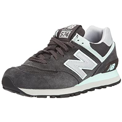 New Balance 新百伦 574系列 女复古鞋 WL574GG0 深灰/薄荷绿 37