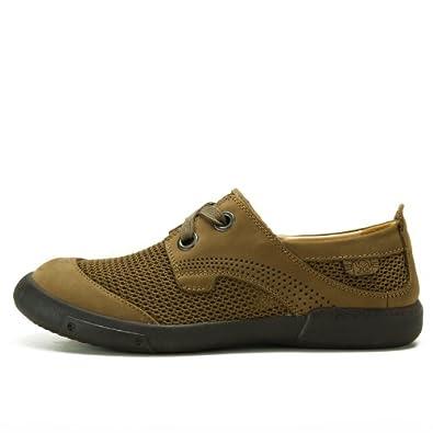 Camel 骆驼 男鞋 夏季透气鞋 真皮休闲男鞋正品 皮鞋板鞋 韩版时尚 82322605