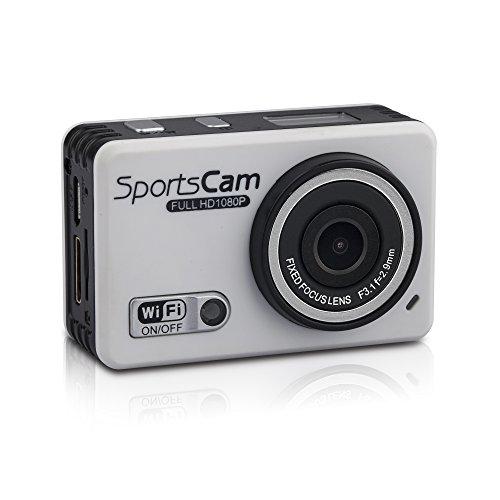 嘉德诺  WIFI高清版 防水摄像运动机 户外运动摄像机 1080P高清拍摄 wifi防水行车记录仪 拍照录像 极限运动拍摄 防水运动摄像机 (国产版配16G内存, 白色)-图片