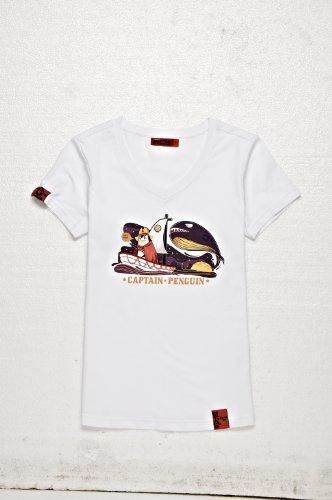 BALCONY 巴戈纽 夏季情侣装短袖V字领T恤 潮牌夏装男士T恤 情侣衫上衣服