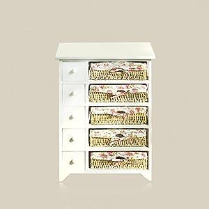 【京好】床头柜子 五六七斗欧式卧室木质书桌衣鞋橱