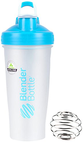 Blender Bottle Classic Full Color w/Loop 经典款 蛋白粉摇摇杯/运动水杯 防漏 带不锈钢搅拌球 28oz (约800ml) 70339-AM 浅蓝色
