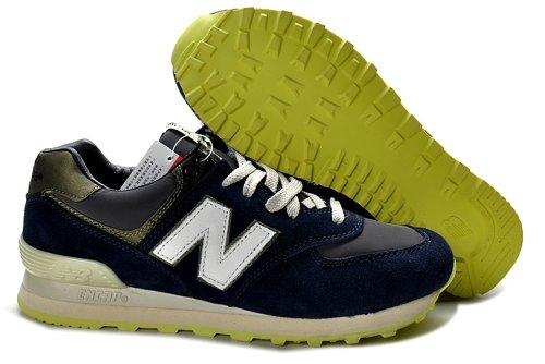 New Balance 新百伦 574经典系列 时尚 休闲 运动  跑步鞋 男士潮流鞋  新成NB:19深蓝荧光绿