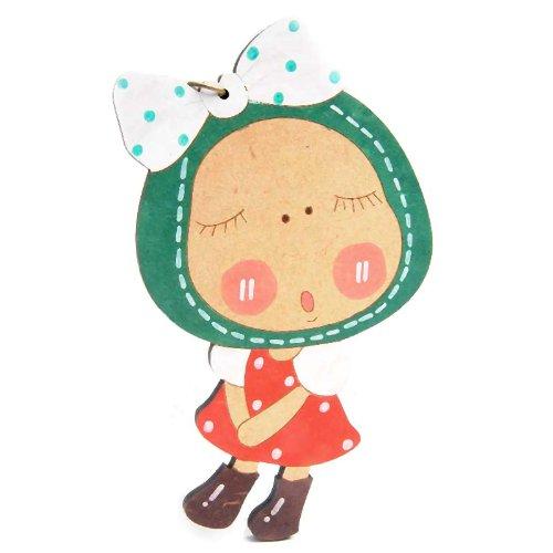 sasa公主最新韩款超可爱热卖款环保木质钥匙扣多用挂件-可爱蝴蝶结